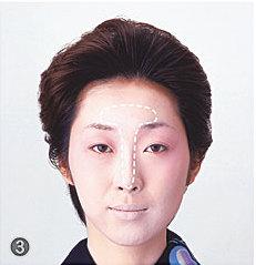 日本舞踊メイク/鼻筋