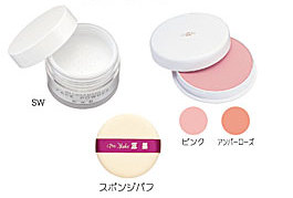 粉白粉/フェースケーキ/スポンジパフ